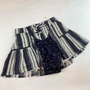 Patrons of Peace Blue and White Shorts Star Print